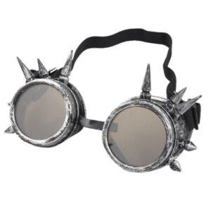 Steampunk Schweißerbrille 220 ist antik silberfarben