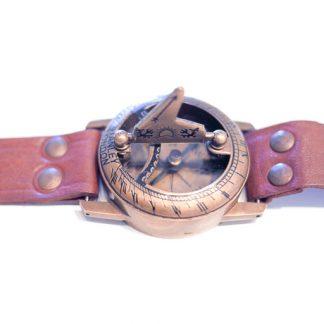 Steampunk Messing - Sonnenuhr mit Kompass