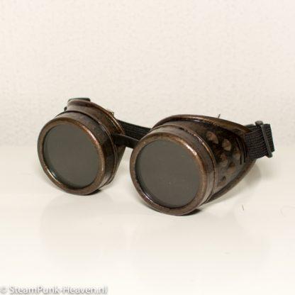 Steampunk Schweissbrille 28, braun