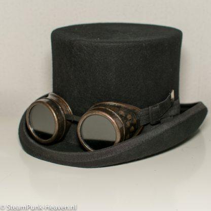 Steampunk Schweissbrille 28, braun, mit Gummizug