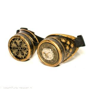 Steampunk Schweißerbrille 287, antik goldfarben