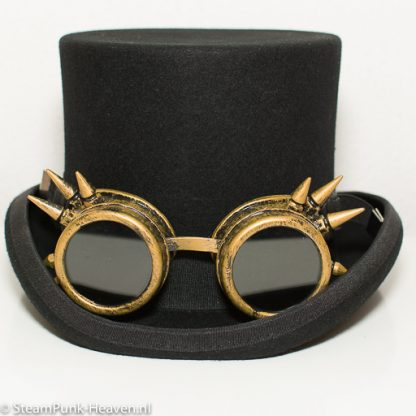 Steampunk Schweissbrille 6 ist antik goldfarben