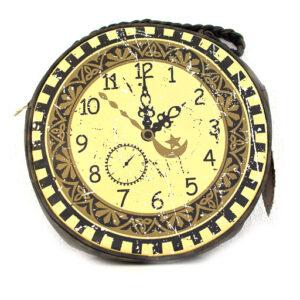 Steampunk Schultertasche Uhr