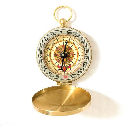 Steampunk Messing Kompass Arthur