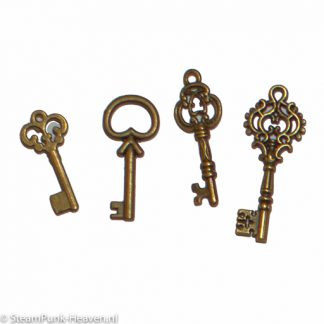Steampunk Mini Schlüssel, 4er Set