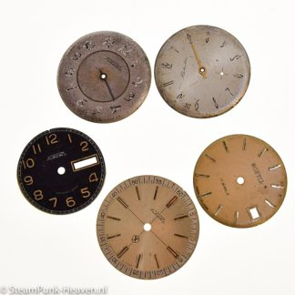 Steampunk Armbanduhr-Ziffernblätter, 5er Set