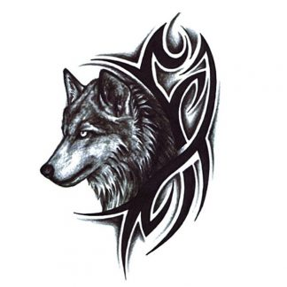 Steampunk Tattoo Wolf
