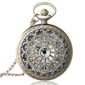 Steampunk Taschenuhr 24 ist bronze