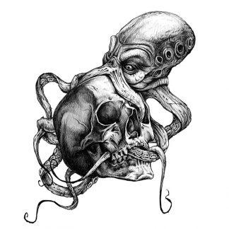 Steampunk Tattoo Krakenschädel