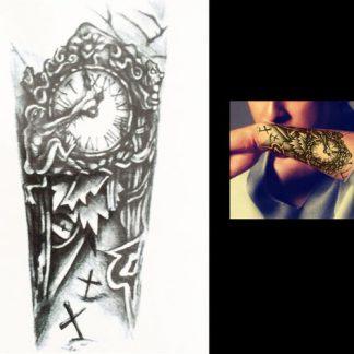 Steampunk Tattoo Unterarm Uhr