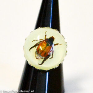 Steampunk Ring 102 mit Käfer