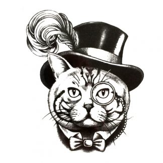 Steampunk Tattoo Steampunkkatze