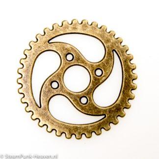 Steampunk Zahnrad Set 58, gross, bronze