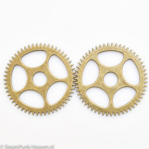 Steampunk Zahnrad Set 76, gross, bronze