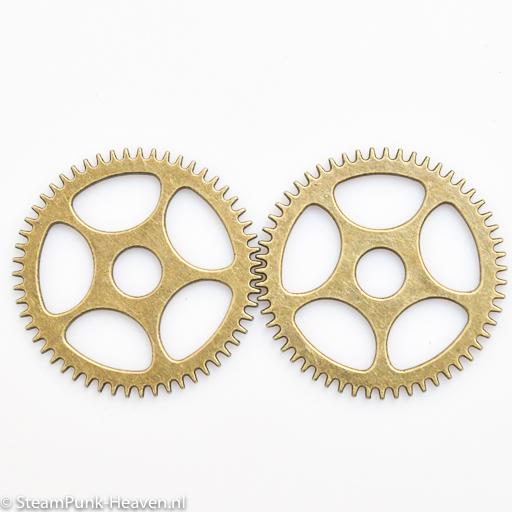 Steampunk Zahnrad Set 76, gross, bronze