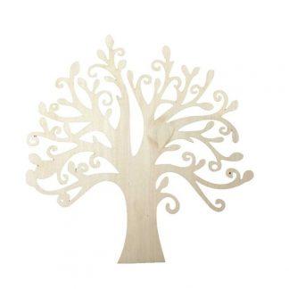 Steampunk Baum-Set, Holz, 3 Stück
