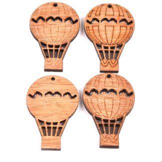 Steampunk Ballon-Set, Holz, 4 Stück