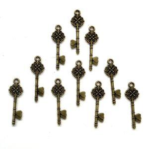 Steampunk Schlüssel 29, 10er Set