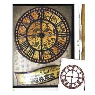 Steampunk Stanzschablone Uhr