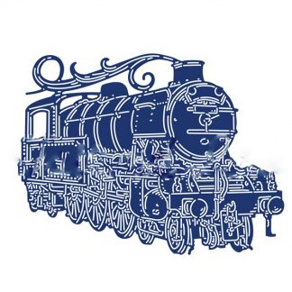 Steampunk Stanzschablone Dampflock
