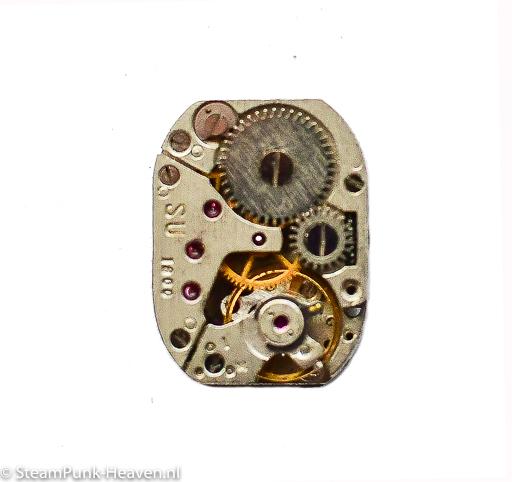 Steampunk Armbanduhr-Mechanismus rechteckig