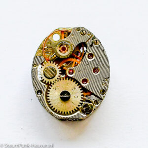 Steampunk Armbanduhr-Mechanismus oval