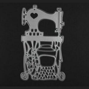 Steampunk Stanzschablone Nähmaschine