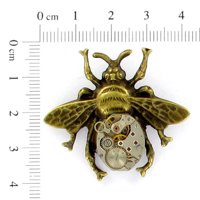 Steampunk Kettenanhänger Uhrwerk-Biene