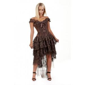 Steampunk Damen Korsettkleid Ruby