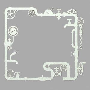 Steampunk Stanzschablone Rohre dünn