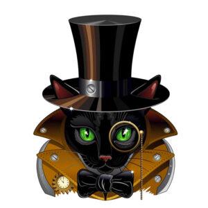 Steampunk Stanzschablone Katze