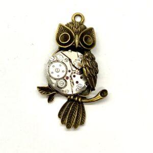Steampunk Kettenanhänger Uhrwerkeule