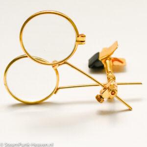 Steampunk 2fach-Juwelierlupe Ocularis